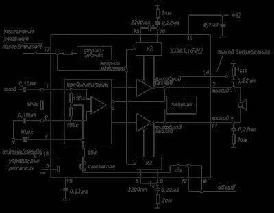 Пример усилителя класса H - микросхема TDA1560Q, развивающая выходную мощность 40 Вт на нагрузке 8 Ом при напряжении...